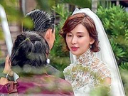 与老公Akira彩排婚礼  林志玲婚纱造型曝光
