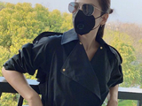 41岁刘涛一身黑衣又美又飒 皮肤紧致光滑保养有佳