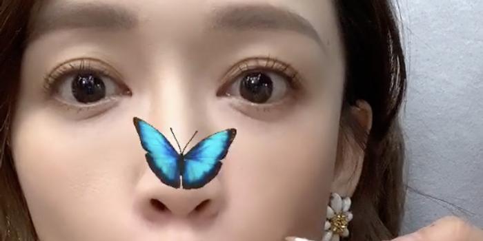 陈乔恩早起开工心情佳 玩蝴蝶滤镜表情搞怪又可爱