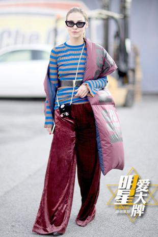 今年最夯的丝绒阔腿裤 穿上身你也能气场2米8