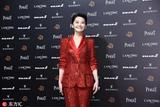 第55届金马奖红毯:许晴红色亮片裤装变全场最亮