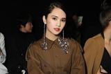 杨丞琳助阵Givenchy巴黎大秀 高腰裤装干练有女人味