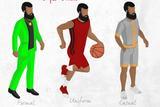 有趣插画帮你学习NBA球星的时尚Style