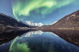 挪威迷人的北极光