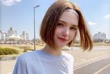 夏日清爽短发造型 大脸妹纸的最爱