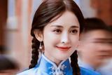 娜扎民国风双麻花辫造型 甜美嫩回18岁