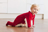 既然婴儿爱在地上乱爬 那就顺便让他拖拖地吧