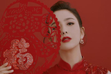 佟丽娅一身红色带珠饰亮片旗袍亮相央视春晚 婀娜优雅
