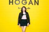 张天爱助阵Hogan米兰预览 短裙搭配轻松穿出女神范儿