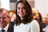 凯特王妃亮相瑞典王室活动 优雅白色毛呢裙大秀孕肚
