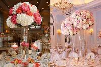 可素凈也可華麗 婚宴高腳桌花裝飾靈感