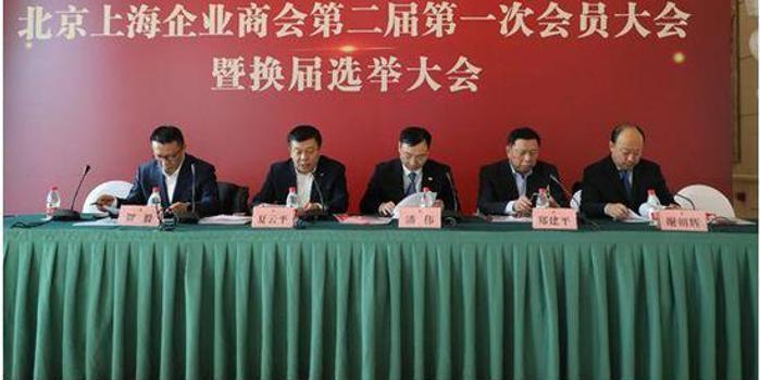 北京上海企业商会换届选举大会:绿地潘伟连任会长