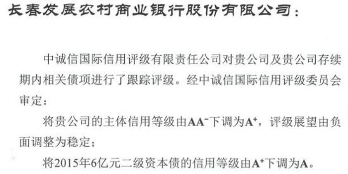 长春发展农商银行三季报净利润2.89亿元