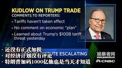 白宫经济顾问库德洛:别怪特朗普,要怪就怪中国!