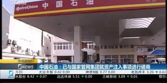 中国石油:已与国家管网集团就资产注入事项进行磋商
