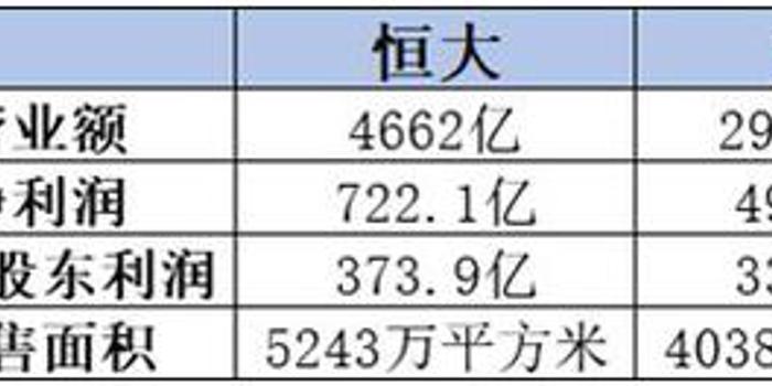 三大龙头房企:恒大稳坐利润王 碧桂园销售面积最大