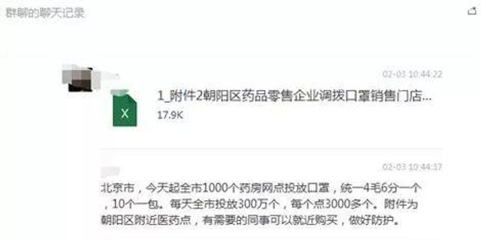 北京1000个药房每天投放300万个口罩?呵呵……