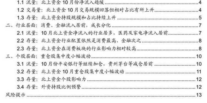 广发策略:上月外资稳步流入 消费加仓TMT分化
