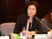 财政部金融司原司长孙晓霞发表演讲