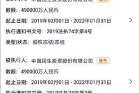 中民投三只债券暂停竞价交易 多项股权资产被冻结