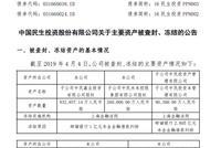 中民投:公司涉诉金额合计29.59亿元 占净资产的3.85%