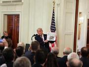 川普在白宫演讲 庆祝弹劾指控被否