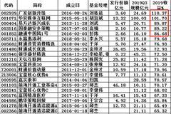 规模超10亿灵活配置基金:嘉实CDR基金2019输基准17%