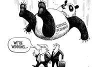 中美谈判前夕 《纽约时报》一幅漫画相当耐人寻味