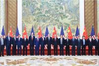 中美贸易磋商结束 闭幕合影新鲜出炉(图)