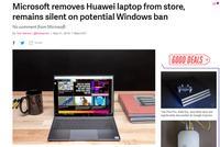 【微软】下架华为笔记本电脑 或将中止Windows授权