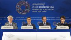 IMF:全球债务达182万亿美元 比金融危机时高50%