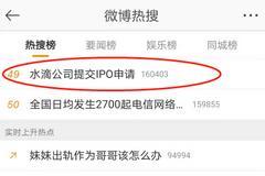 #水滴公司提交IPO申請#沖上熱搜 網友:慈善也是生意