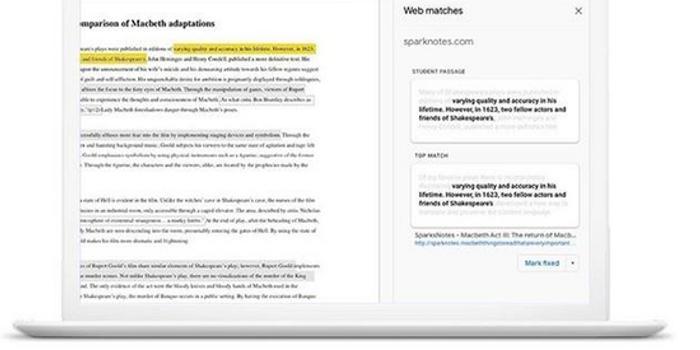 谷歌推新工具 防止学生通过网络抄作业
