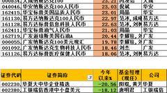 QDII基金今年平均赚2.7% 华夏、工银瑞信却亏损20%