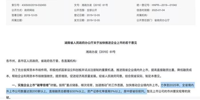 """各地助推企业上市 湖南出台""""破零倍增""""计划"""