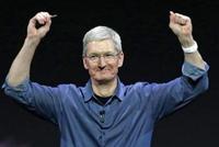 苹果涨近6% 时隔近3个月市值重回一万亿美元
