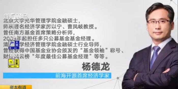 视频|杨德龙:疫情过后市场上涨的节奏还会进一步加快