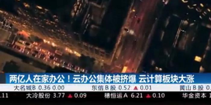 视频|两亿人在家办公 云计算板块大涨前景无限