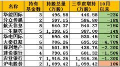 前海开源高喊加仓:三季度十大增持股 10月仅1只上涨