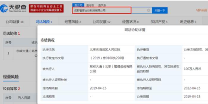 新利棋牌_ofo旗下两家公司股权被冻结:共价值600万元