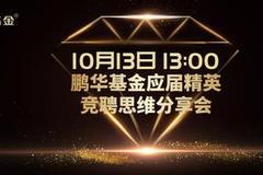 10月13日王德倫、匯添富嘉實華安鵬華國泰興業等直播解析熱點主線