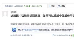 """8年股本扩大10倍 """"仙股""""中弘股份变相自杀?"""