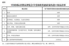 財政部發布消博會展期內銷售的進口展品稅收優惠政策