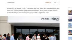 美国经济增速为2年多最强 特朗普减税再遭质疑