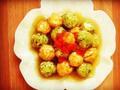 素食养生:双色豆腐丸