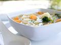 素食养生:卷心菜蘑菇汤