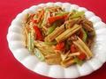 素食推荐:青椒烧腐竹