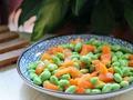 素食推荐:毛豆炒胡萝卜