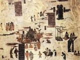 """敦煌壁画""""石佛浮江""""赏析"""