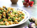 素食养生:芹菜豆腐丁